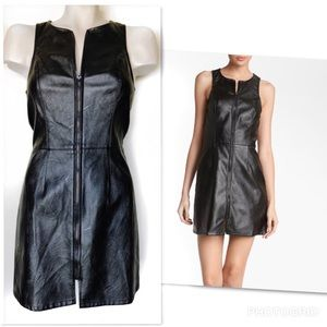 ASTR THE LABEL Faux Leather Zipper Shift Dress M